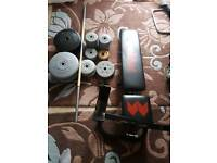 70kg home gym and weights for sale