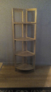 Folding Wooden Corner Shelf