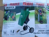 Boxed Draper 2400 garden shredder used once RRP £170