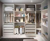 PAX WARDROBE IKEA KITCHEN FURNITURE MURPHY BED COSTCO INSTALLER