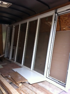 White pvc used windows