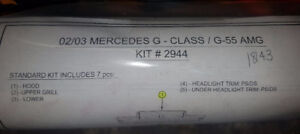 2002/3 Mercedes G500 / G55 AMG 3M Paint Protection Kit