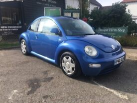 2001 Volkswagen Beetle metallic blue 2.0l Auto 112k miles long mot
