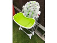 High chair well used