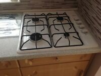 Belling gas hob 4burner in white