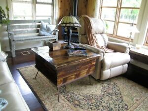 Table for between your couch and love seat...higher style