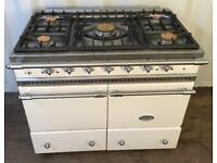 Lacanche cluny range cooker in ivory and chrome