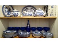 Blue Willow China, various items