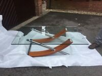Glass top lounge table bought from David Phipps