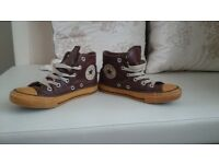 brown leather converse size 12 half