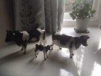 Beswick Friesain Cow family Vintage