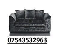 brand new sofa crush velvet black as in pic