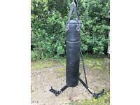 Boxing stand and heavy bag.