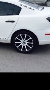 """Mags in white & black with 17""""  low profile sports Tires"""