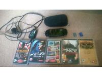 Faulty Sony PSP 2000 with 5 games £15