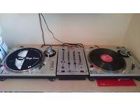 Technics sl1200 mk2 setup