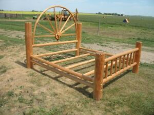 Western style King size, Amish built solid pine bed frame