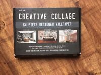 1Wall Creative Collage Typo 1 64 piece Wallpaper - NEW