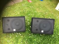 "Pair of Thomann ""The Box"" Passive 12"" Floor Monitors"