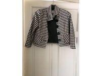 Girls Next black and white checked jacket