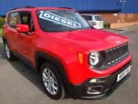 15 JEEP RENEGADE LONGITUDE 5 DOOR DIESEL £30 TAX *SATNAV*
