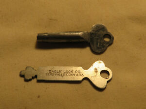 (2) vintage 1940's keys...Eagle Lock Co. Terryville, Conn.. USA