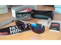 FREE DELIVERY TODAY! RAYBANS BLUE POLARISED AVIATOR SUNGLASSES JOBLOT WHOLESALE