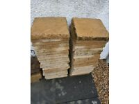 Yorkstone slabs