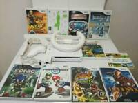 Nintendo Wii console in excellent condition with wii balance board 10 games and accessories