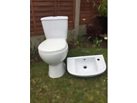 Brand new toilet and sink
