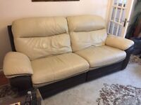 DFS Luxury 3 Seater Leather Recliner & 2 Seater Leather Sofas