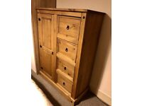 Corona Waxed Pine Low Wardrobe