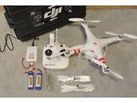 DJI Phantom FC40 Drone with Live View 720p WiFi Camera + 3 Batteries + Flight Case