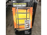 Pro user 5 tier heavy duty boltless shelving unit (boxed and unused)