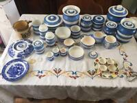 T G Green Cornishware and Domino Ware