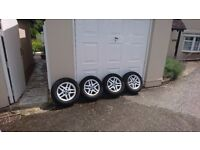 BMW 3 Series E46 Alloy Wheels/Rims (2 with new tyres) 318 316 320