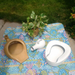 2 ANTIQUE BED PANS + 1  Vintage Urinal  *SEE EACH PRICE