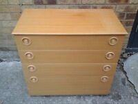 Retro 1970's chest of drawers