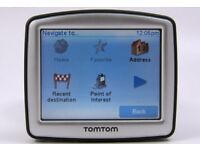 SAT NAV TOM TOM ONE 30 SERIES 512 MB MEMORY WITH UK MAPS. INCLUDES ORIGINAL CHARGER AND WINDOW MOUNT