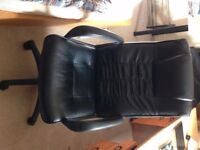 Leather Faced Manager Desk Chair