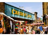 Sales person in Camden Market London
