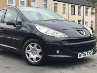 2009 ( 09 ) PEUGEOT 207 S 1397cc PETROL 5 DOOR IN BLACK*LOW MILES* FINANCE ANAILABLE*100% HPi CLEAR*