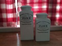 Maxwell Williams Flour Canisters