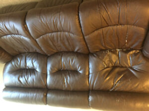 Leather reclining coach