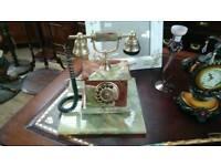 Old vintage marble phone