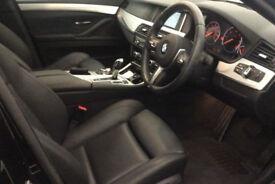 Black BMW 520d M Sport Diesel Auto 190bhp SatNav FROM £98 PER WEEK!