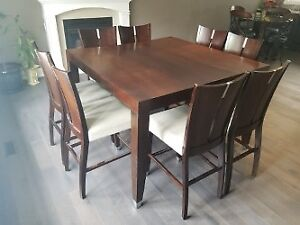 Hamilton Spill Dining Set Expandable 8 Chairs