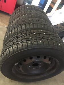 "14"" Rims and Nokian studded winters"