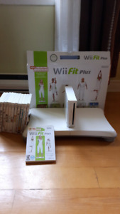 Console Wii + Wii Fit + 12 jeux