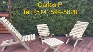Set patio en bois